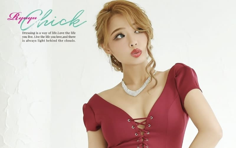8d07bf496 赤いキャバドレスをRyuyu(リューユ)で購入するなら   キャバドレスKYABAS